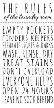 Rules of the Laundry Room by Anna Quach