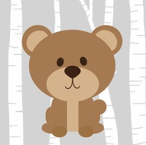 Woodland Bear by Anna Quach