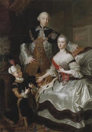 Peter III and Catherine II of Russia with their son Paul, c.1756 by Anna Rosina Lisiewska