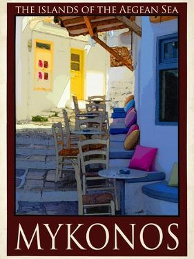 Alleyway in Mykonos Greece 3 by Anna Siena