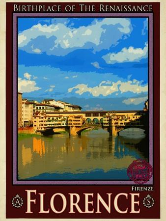 Ponte Vecchio, Florence Italy 1 by Anna Siena
