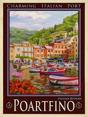 Portfino Italian Riviera 1 by Anna Siena