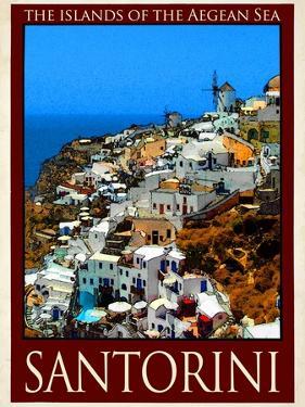 Santorini Greece 1 by Anna Siena