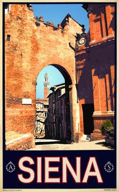 Tower in Siena Italy 1 by Anna Siena