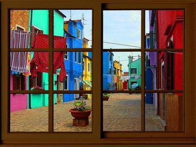 View from the Window at Burano Window, by Anna Siena