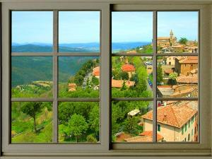 View from the Window at Montalcino, Tuscany by Anna Siena