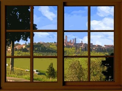 View from the Window at San Gimignano, Tuscany by Anna Siena