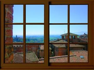 View from the Window at Siena, Tuscany by Anna Siena