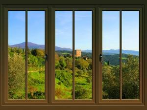 View from the Window Castello Di Ripa D'Orcia, Tuscany by Anna Siena