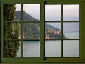 View from the Window Corniglia at Cinque Terre by Anna Siena