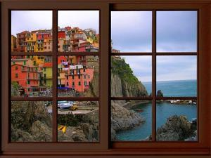 View from the Window Manarola at Cinque Terre by Anna Siena