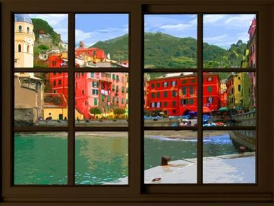 View from the Window Vernazza at Cinque Terre by Anna Siena
