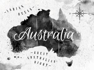 Ink Australia Map by anna42f