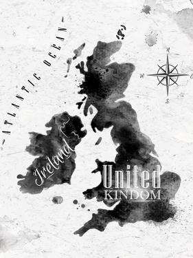Ink United Kingdom and Scotland Map by anna42f