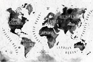 Ink World Map by anna42f