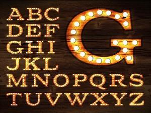 Lamp Alphabet Old Style by anna42f