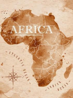 Map Africa Retro by anna42f