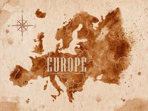 Map Europe Retro by anna42f