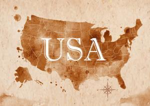 Map United States Retro by anna42f