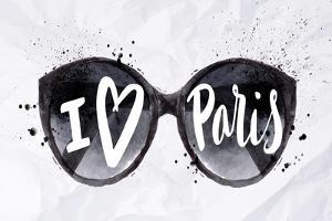 Paris Poster Sun Glasses by anna42f