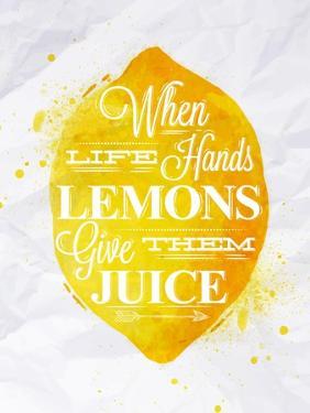 Poster Fruit Lemon by anna42f