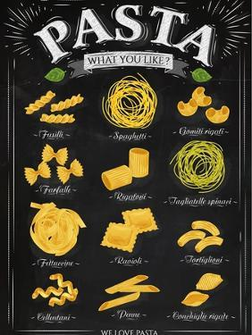 Poster Pasta Chalk by anna42f