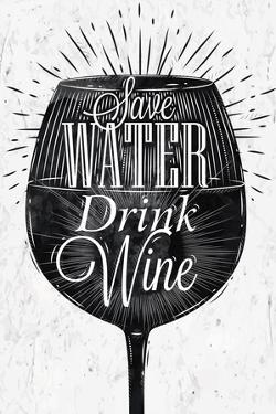 Poster Vintage Wine by anna42f