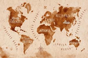 World Map Map Retro by anna42f
