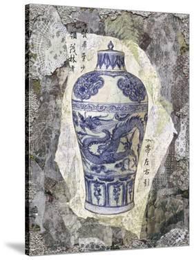 Blue Dragon Vase by Annabel Hewitt