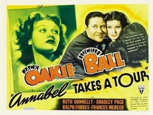 Annabel Takes a Tour, Lucille Ball, Jack Oakie, 1938