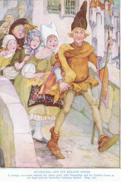 Dummling and His Golden Goose: a Strange Procession Entered the Palace Yard by Anne Anderson