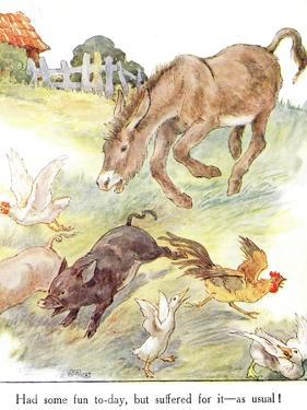 'Had Some Fun To-Day, But Suffered for it - as Usual!', Illustration from 'The Naughty Neddy… by Anne Anderson