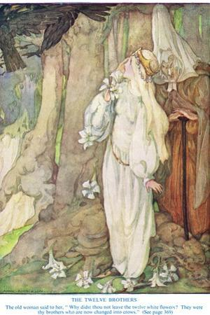 Illustration from 'The Twelve Brothers' by the Grimm Brothers by Anne Anderson
