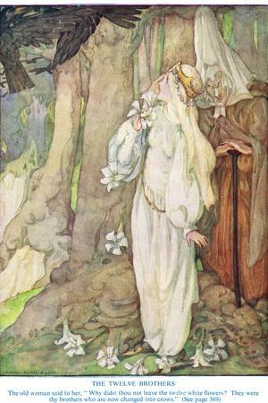 Illustration from 'The Twelve Brothers' by the Grimm Brothers