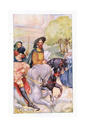In Attendance on the Knight Was His Son by Anne Anderson