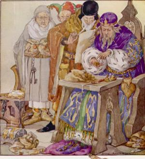 The King was in His Counting- House Counting out His Money by Anne Anderson