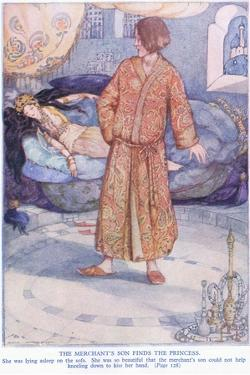The Merchant's Son Finds the Princess by Anne Anderson