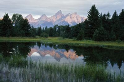 The Teton Mountain Range Is Reflected in a Pond by Anne B. Keiser