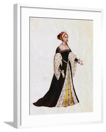 Anne Boleyn as Queen of England--Framed Giclee Print