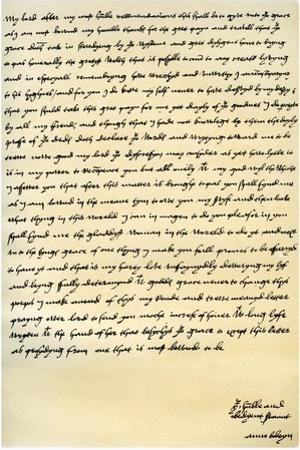 Letter from Anne Boleyn to Cardinal Wolsey, C1528 by Anne Boleyn
