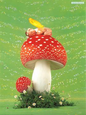 Erin as Toadstool by Anne Geddes