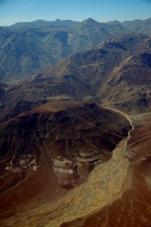 Aerial View of Northwestern Namibia Near Serra Cafema Camp on Banks of the Kufeme River by Anne Keiser