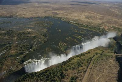 Aerial View over Victoria Falls, Zambia by Anne Keiser