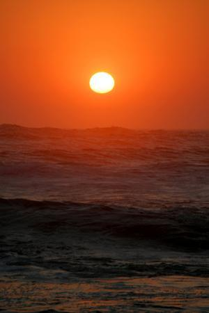 Sunset over the Ocean, Swakopmund Town, Namibia by Anne Keiser