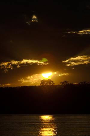 Sunset over the Victoria Nile, Zambia by Anne Keiser
