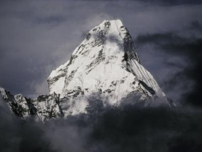 View of Ama Dablam Wreathed in Clouds by Anne Keiser