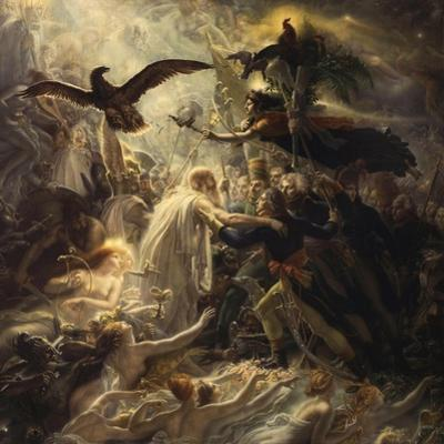 Shades of French Warriors Led into Odin's Palace by Victory, 1802 by Anne-Louis Girodet de Roussy-Trioson