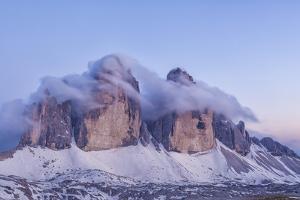 Italy, Trentino-Alto Adige, the Dolomite Peaks Tre Cime Di Lavaredo Wreathed in Cloud by Anne Maenurm