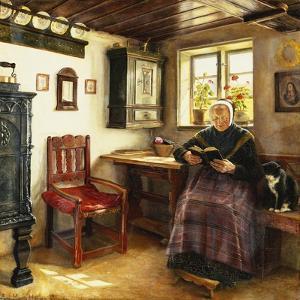 A Good Book, 1899 by Anne Marie Hansen