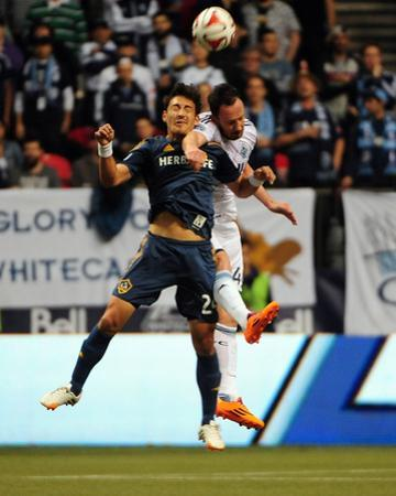 Apr 19, 2014 - MLS: Los Angeles Galaxy vs Vancouver Whitecaps - Stefan Ishizaki, Andy O'Brien